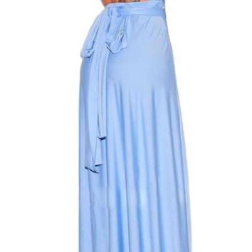 Women's Amazing Convertible Periwinkle Blue Wear How You Want Maxi Dress