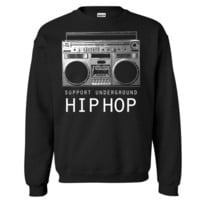 Underground HipHop Music Crewneck  Sweat Shirt BoomBox free shipping