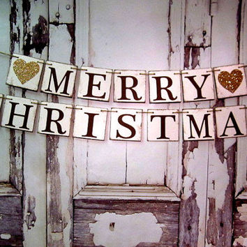 Christmas Banners Merry Signs Banner Rustic Barn