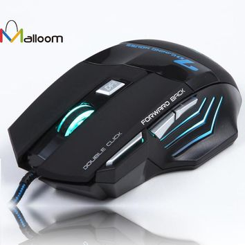 3200 DPI 7 Buttons USB Wired Optical Gaming Mouse