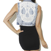 Skull Back Vest | Shop Pop Goth at Wet Seal