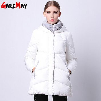 Outwear Coats Winter Female Warm Duck Down Jacket Casual Parka Women Coat Hooded Thick Feather Parka For Women's White Jacket