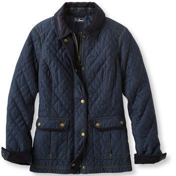 Women's Quilted Chambray Jacket | Now on sale at L.L.Bean