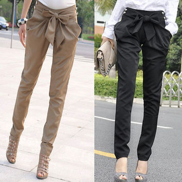 Fashion Bow Pants Trousers