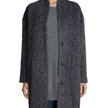 Fisher Project Fuzzy Alpaca-Blend Coat, Size: