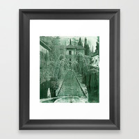 Generalife. The Alhambra Framed Art Print by Guido Montañés