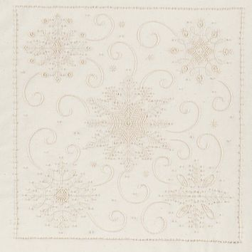 "Snowflakes-Stitched In Thread Janlynn Candlewicking Embroidery Kit 14""X14"""