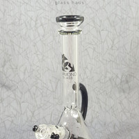 Handled Beaker Water Pipe by Diamond Glassworks