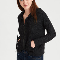 AE Soft & Sexy Plush Full Zip, Charcoal