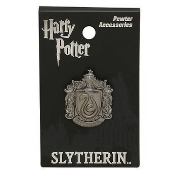 Harry Potter Slytherin Crest Pewter Charm Pin