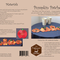 Pumpkin Patches, the Caffeinated Quilter, table runner