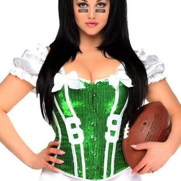 "Daisy Corset 2 PC Sexy ""Football Fantasy"" Costume Green"