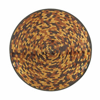 Benzara Attractively Styled Metal Mosaic Wall Platter