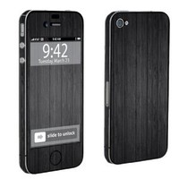 Apple iPhone 4 or 4s Full Body Decal Vinyl Skin - Black Wood By SkinGuardz