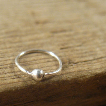 Sterling Silver Nose Ring Ball
