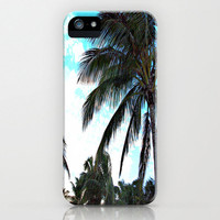 Palm Tree iPhone Case - South Beach Miami Sunny Florida Photography Original Print work giant foliage clear skies blue pretty