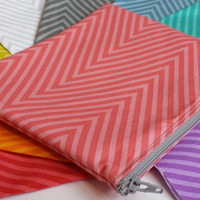 Pick Your Color Chevron Cosmetic Bag Chevron Makeup Pouch Zippered Bag Chevron Accessories Fashion Make up Pouch Travel Pouch Pick A Color