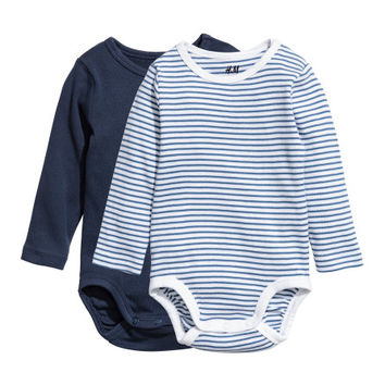 2-pack Long-sleeved Bodysuits - from H&M