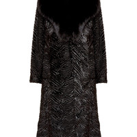 Midlength Faux Fur Coat With Fox Fur Collar | Alice + Olivia