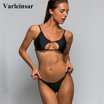 Sexy Cut Out 2018 Bikini Women Swimwear Female Swimsuit Two-pieces Bikini set Brazilian Bather Bathing Suit Swim Wear Lady V702