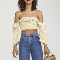 AFTERNOON FLORAL PRINT - SYBIL TOP