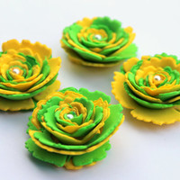 Gorgeous Fresh Green and Yellow Flowers,Perfect for Party Decorations,Scrapbooking,Craft works,Weddings