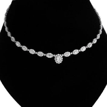 10.12ct 18k White Gold Diamond Necklace