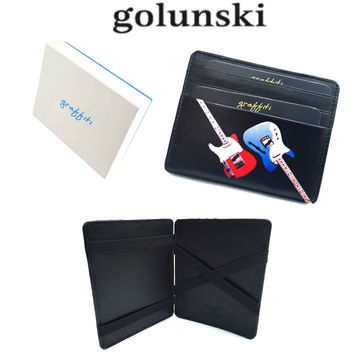 Style 946 Leather Magic Wallet Credit Card Holder Guitar Van By Golunski
