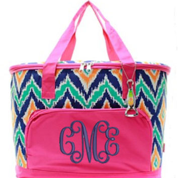 Insulated Cooler IKAT - 2 Color Choices