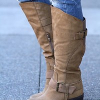 Strap Me Up Heel Boots (Nude)