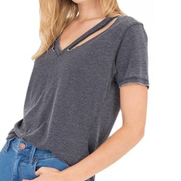 Z Supply: The Cut Out V-Neck Tee