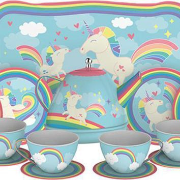 Schylling Unicorn | TIN TEA SET