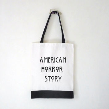 American Horror Story Canvas Tote Bag / Laptop Bag / School Bag