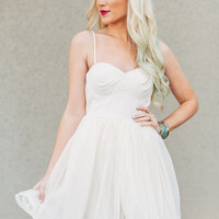 Fit n Flared Dress in Ivory
