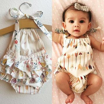 2017 Cute Children Kids Baby Girl Clothes Bodysuit Summer Sleeveless Bebes Body Clothing Outfit 0-18M