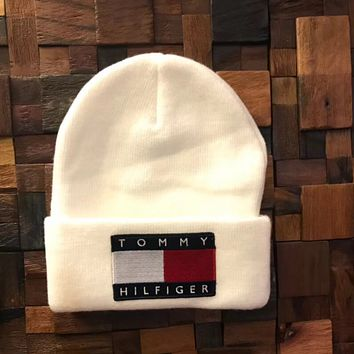 TOMMY HILFIGER Fashion Beanies Winter Embroidery Hat Cap