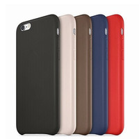 For Apple logo Leather cover case for iPhone 6 case 4.7 For iPhone 6 Plus Leather case 1:1 original official coque phone cases