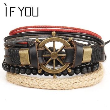 Hologram Anchors Leather Bracelets(s)