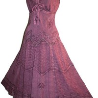 #600 Agan Traders Wedding Evening Party Summer Sleveless Dress [S, Plum]
