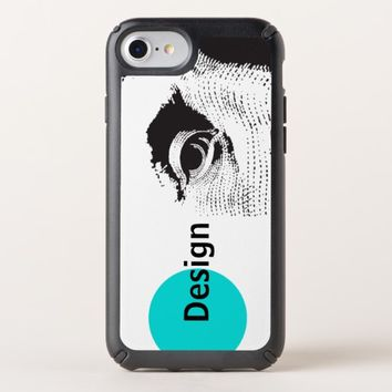 Benjamin Franklin Modern Blue Circle iPhone Case