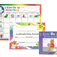 "Kenson Kids ""I Can Do It!"" Potty Chart Updated Toilet Training System! Includes Colorful Magnetic Chart, 30 Positive-Reinforcement Stars, Potty Training Book, Achievement Certificate, and Training Tips for Parents."