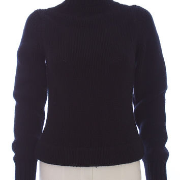 MARC JACOBS Long Sleeve Black Wool Turtle Neck Size XS