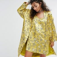 One Above Another Kimono In Brocade Co-Ord at asos.com