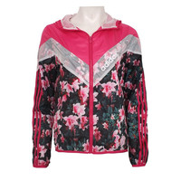 Fashion Adidas Print Hooded Multicolor Zipper Cardigan Jacket Windbreaker