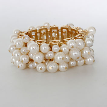 New Arrival Shiny Great Deal Gift Hot Sale Awesome Accessory Korean Pearls Stylish Bracelet [6586248199]