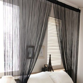 Striking New Line String Window Curtain Tassel Door Room Divider Scarf Valance