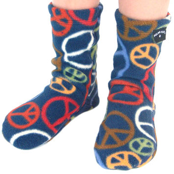 Kids' Fleece Socks - Peace