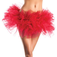 Layered Organza Tutu Red O-s