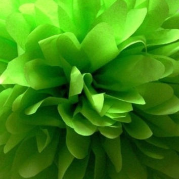 18 inch large Lime Green pompom / party poms / birthday decor / Firstbirthday / baby shower / hanging poms / nursery poms /party decorations