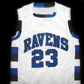 NATHAN SCOTT #23 ONE TREE HILL RAVENS BASKETBALL JERSEY WHITE - ANY SIZE